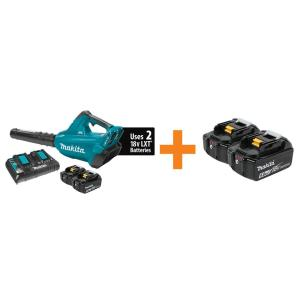Makita 18-Volt X2 (36-Volt) LXT Lithium-Ion Brushless Cordless Blower Kit w/(2)... from Leaf Blowers