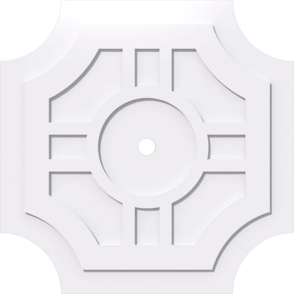 Ekena Millwork 1 In P X 11 1 4 In C X 34 In Od X 2 In Id Haus Architectural Grade Pvc Contemporary Ceiling Medallion Cmp34hs 02000 The Home Depot