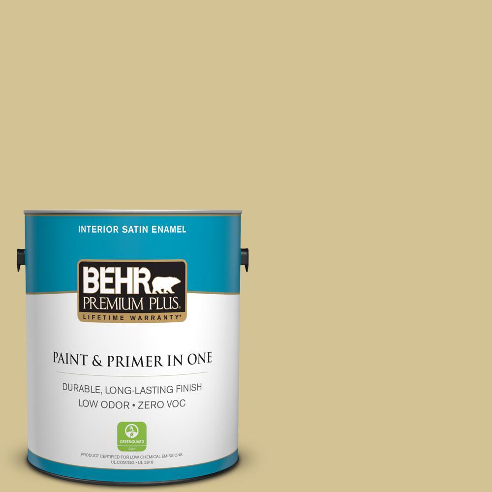 BEHR Premium Plus 1-gal. #M310-4 Almondine Satin Enamel Interior Paint