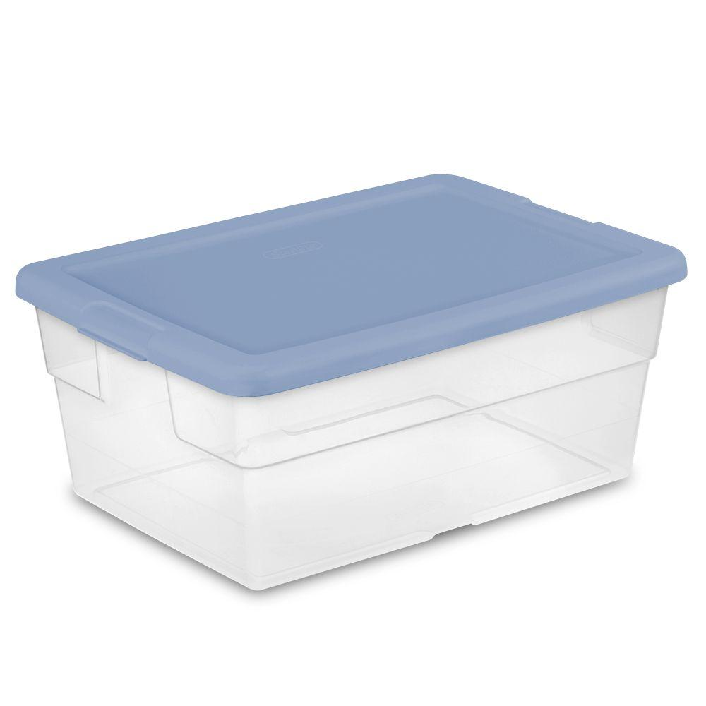 Sterilite 16 Qt. Storage Box  sc 1 st  The Home Depot & Sterilite 16 Qt. Storage Box-16441012 - The Home Depot