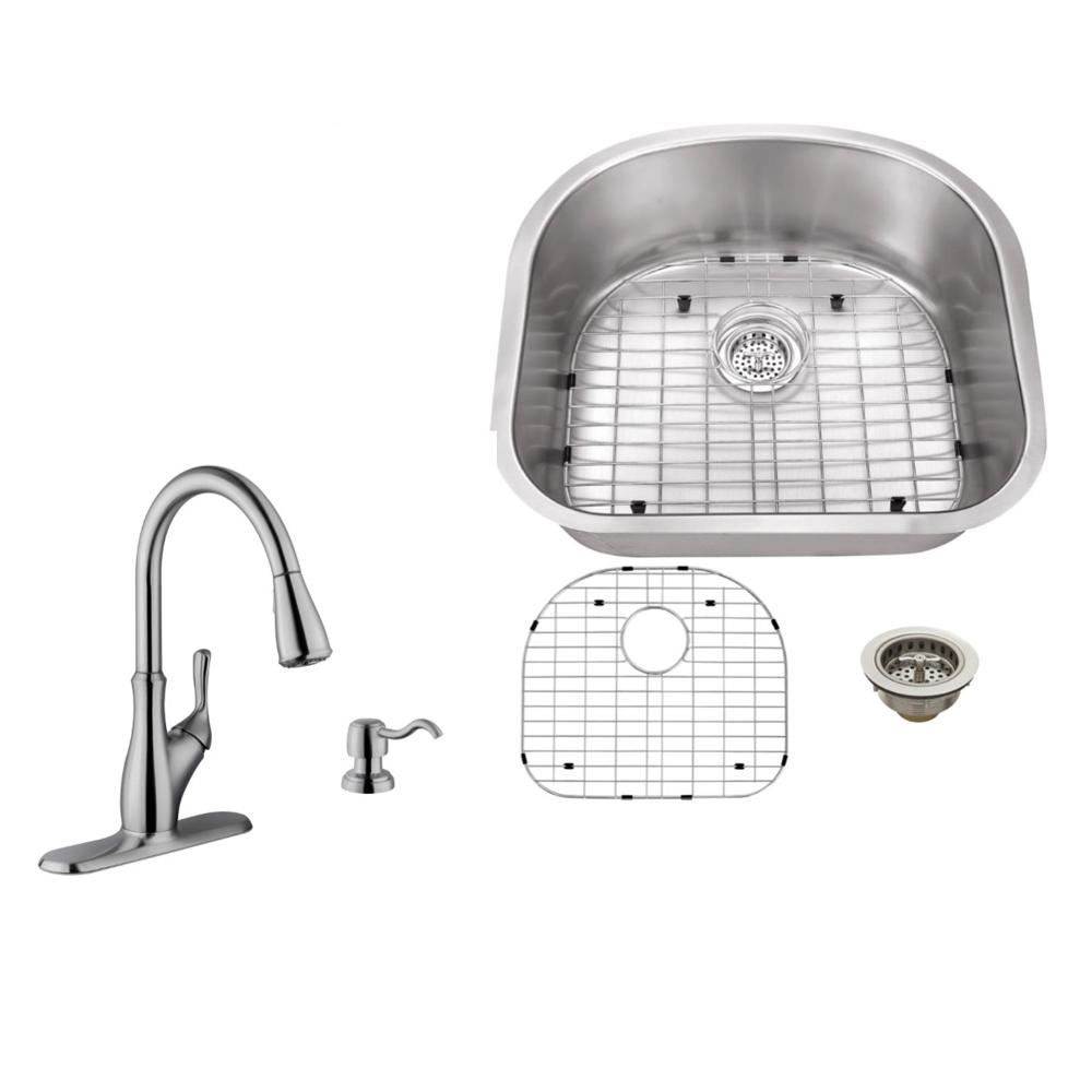 IPT Sink Company Undermount 23 in. 18-Gauge Stainless Steel Kitchen ...