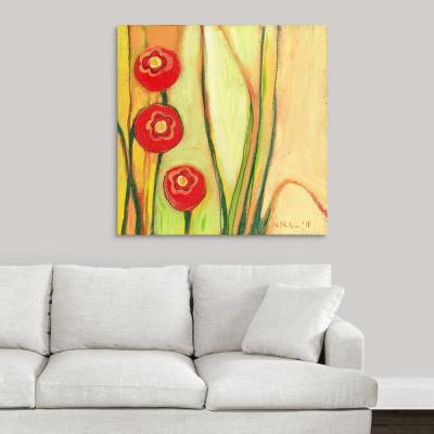 """36 in. x 36 in. """"Red Poppies Found"""" by  Jennifer Lommers Canvas Wall Art"""