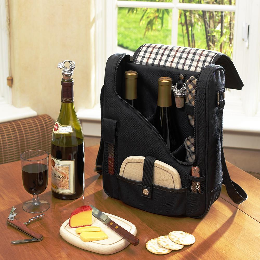 Black and London Wine and Cheese Cooler Bag for 2 with
