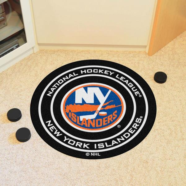 FANMATS NHL New York Islanders Nylon Face Hockey Puck Rug