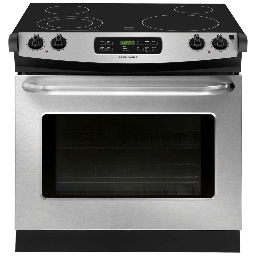 Frigidaire 30 in. 4.6 cu. ft. Drop-In Electric Range with Self-Cleaning in Stainless Steel
