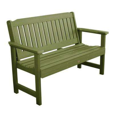 Lehigh 60 in. 2-Person Dried Sage Recycled Plastic Outdoor Garden Bench