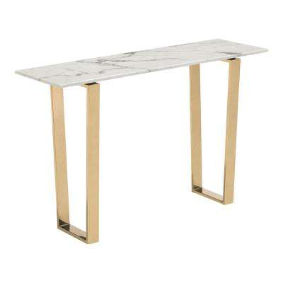 Atlas Stone Gold Console Table