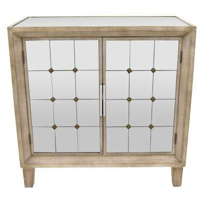 31.5 in. White Wood Cabinet- 2-Doors