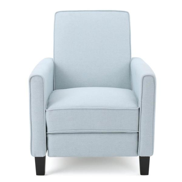 Noble House Darvis Light Sky Blue Fabric Recliner 299837