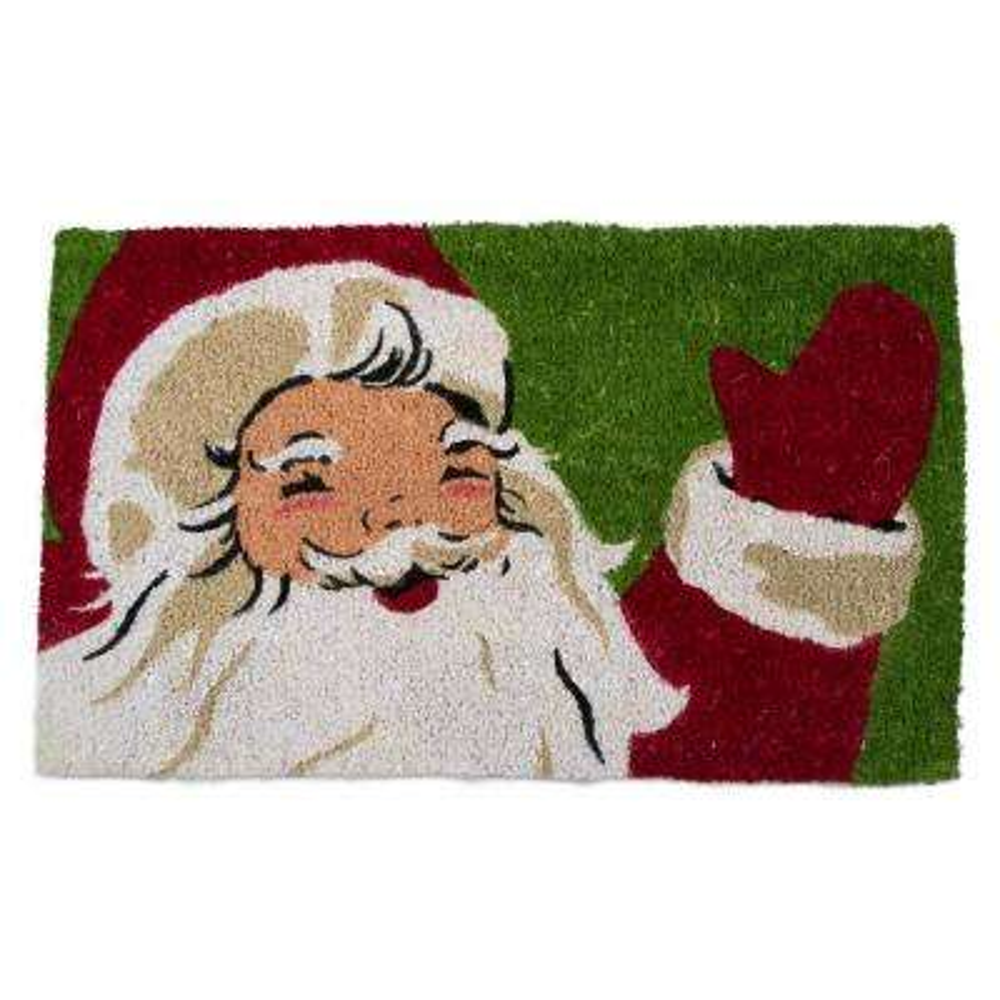 Vintage Santa 18 in. x 30 in. Coir Door Mat