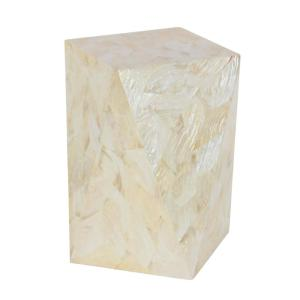 Coastal Living Geometrical-Shaped Accent Table in White by