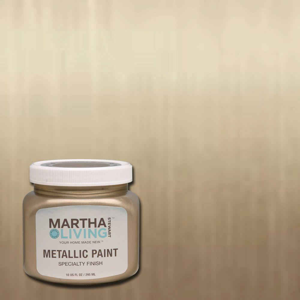 Martha stewart living 10 oz vintage gold satin metallic for How to make metallic paint