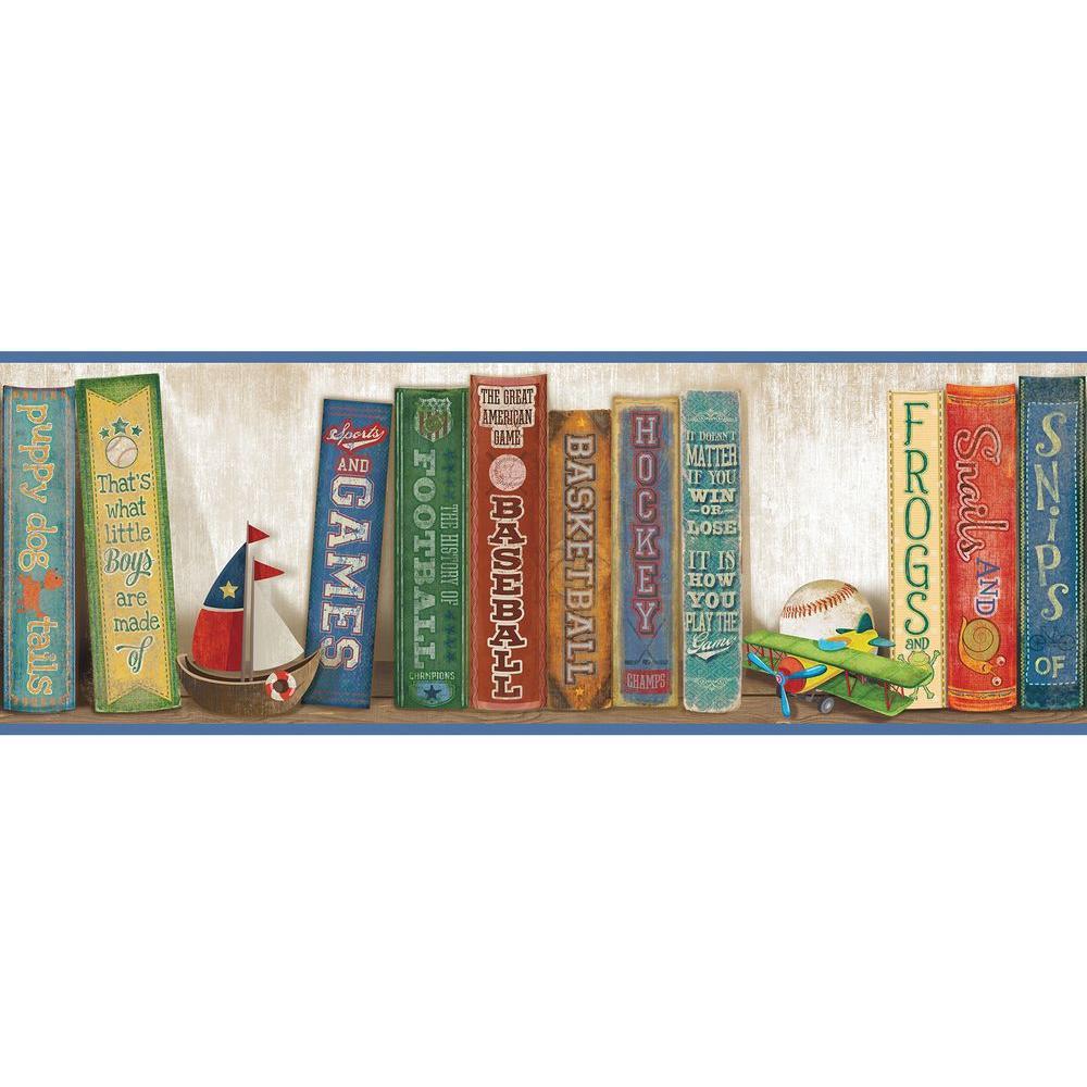 Stevie Play The Game Bookshelf Wallpaper Border