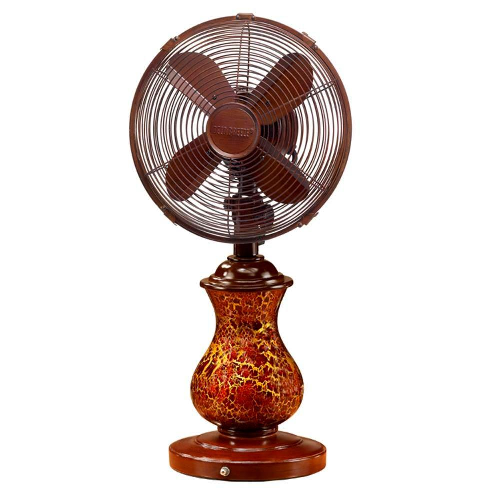 Rustic Crackle Table Fan DBF0672   The Home Depot