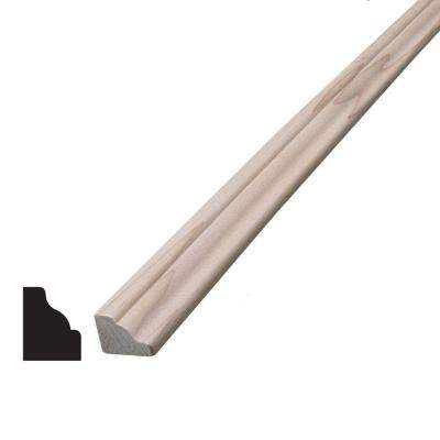 3/8 in. x 9/16 in. x 96 in. Hemlock Baby Crown Moulding
