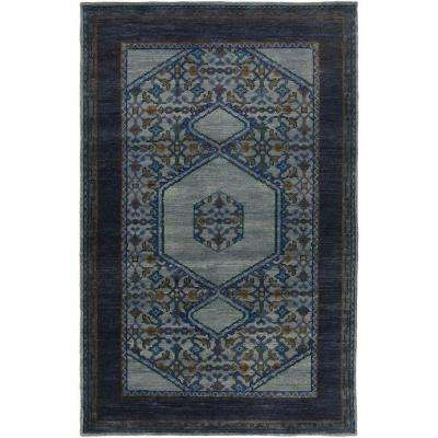 Mitus Navy 9 ft. x 13 ft. Indoor Area Rug