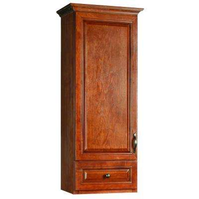 Montclair 18 in. W x 49 in. H Pre-Assembled Linen Cabinet Top in Chestnut Glaze