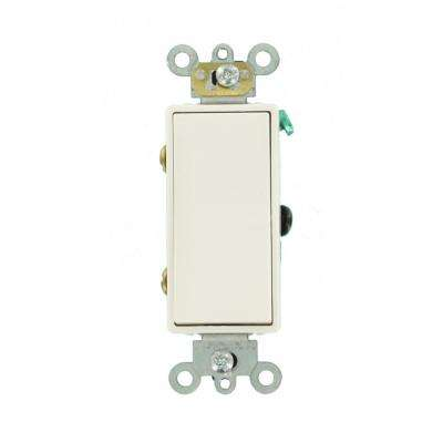 Decora 15 Amp 3-Way AC Quiet Rocker Switch, White on