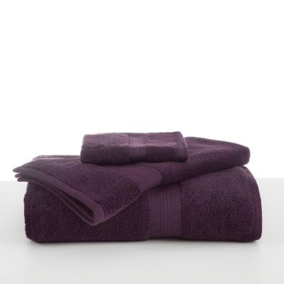 Abundance Cotton Blend  Bath Towel in Black Plum