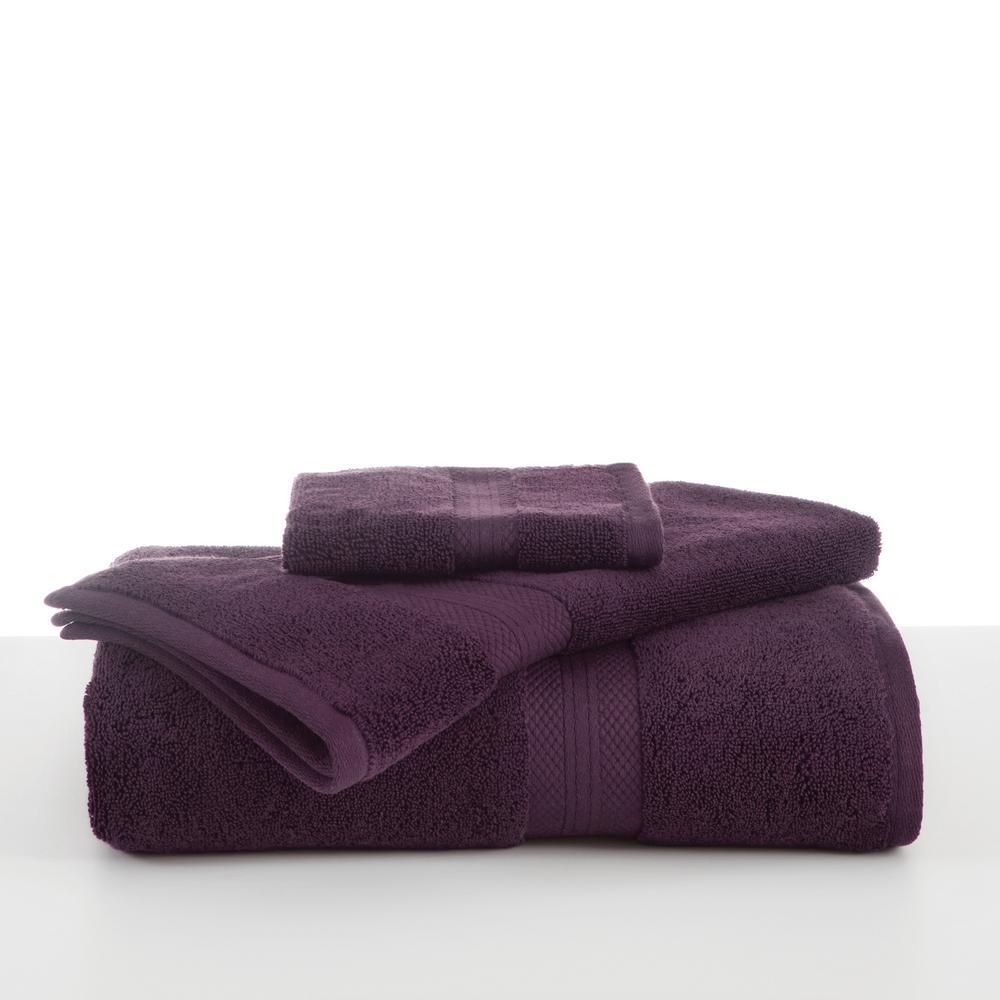Abundance Cotton Blend  Bath Towel in Black Plum
