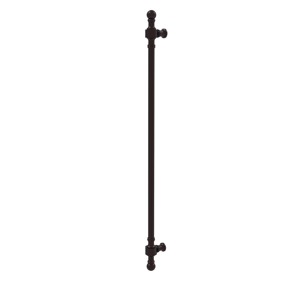 Retro Wave Collection 18 in. Refrigerator Pull in Antique Bronze