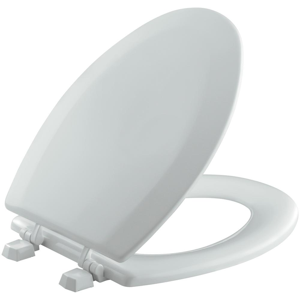 KOHLER Triko Elongated Closed Front Toilet Seat in Ice Grey-K-4712-T ...
