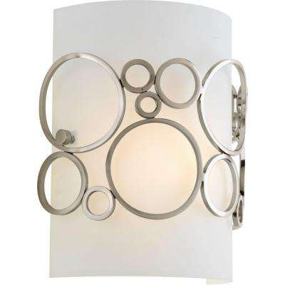 Bingo Collection 1-Light Brushed Nickel Wall Sconce