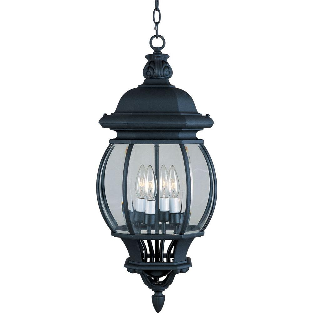 hanging outdoor lights maxim lighting crown hill 4 light black outdoor hanging 28707