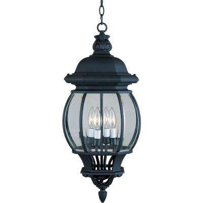 Crown Hill 4-Light Black Outdoor Hanging Lantern