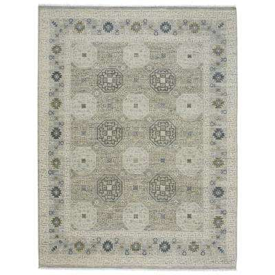 Burmesse Tile Silver 8 ft. 6 in. x 11 ft. 6 in. Area Rug