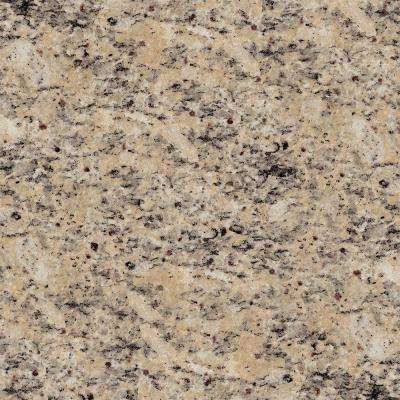 4 in. x 4 in. Natural Granite Vanity Top Sample in Burnt Almond