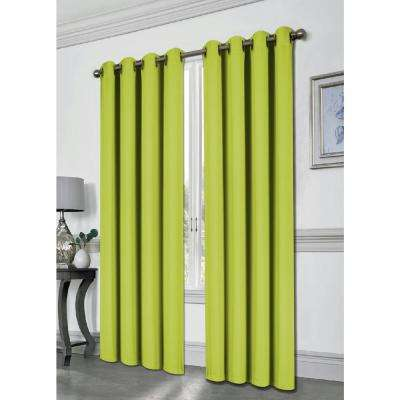 Tessa Lime 54 in. L Grommet Blackout Panel