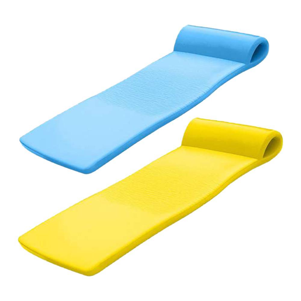 Sunsation Bahama Blue and Yellow Foam Raft Lounger Pool Floats