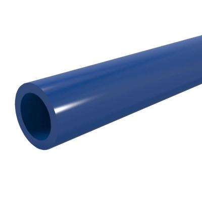 1/2 in. x 5 ft. Furniture Grade Sch. 40 PVC Pipe in Blue
