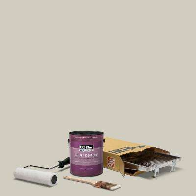 1 gal. #N320-2 Toasty Gray Extra Durable Eggshell Enamel Interior Paint and 5-Piece Wooster Set All-in-One Project Kit