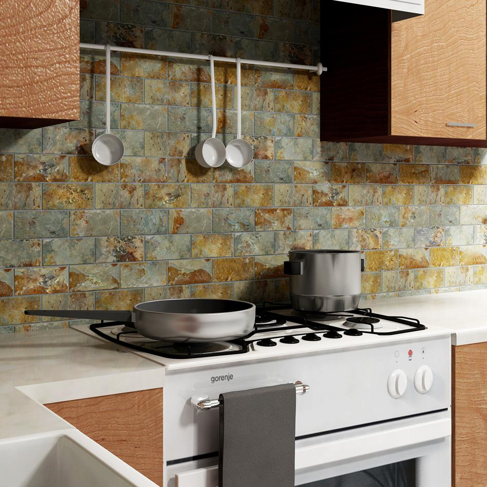 - Merola Tile Crag Subway Sunset 11-3/4 In. X 11-3/4 In. X 10 Mm