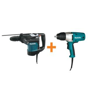 Makita 13.5 Amp 1-3/4 inch SDS-MAX AVT Rotary Hammer Drill with Free 3.5 Amp 1/2 inch Corded Impact Wrench by Makita