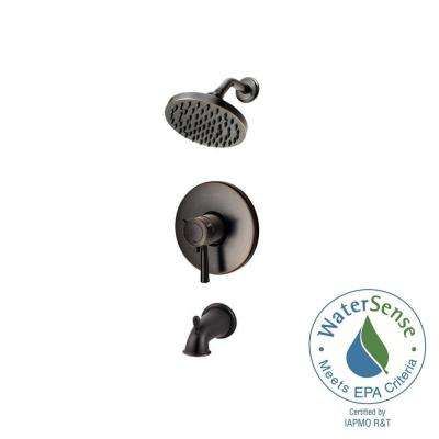 Thermostatic Shower Systems 1-Handle Tub and Shower Faucet Trim Kit in Tuscan Bronze (Valve Not Included)