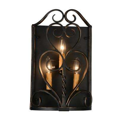 Branch 3-Light Autumn Bronze Sconce