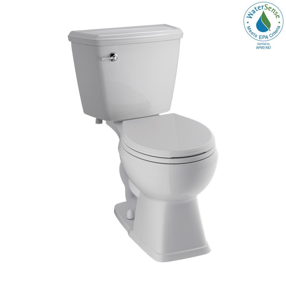 Delta Luxford 2-Piece 1.28 GPF Single Flush Round Front Toilet in White