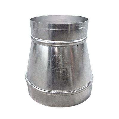 Spiral Pipe 8 in. to 6 in. 24 Gauge Round Reducer