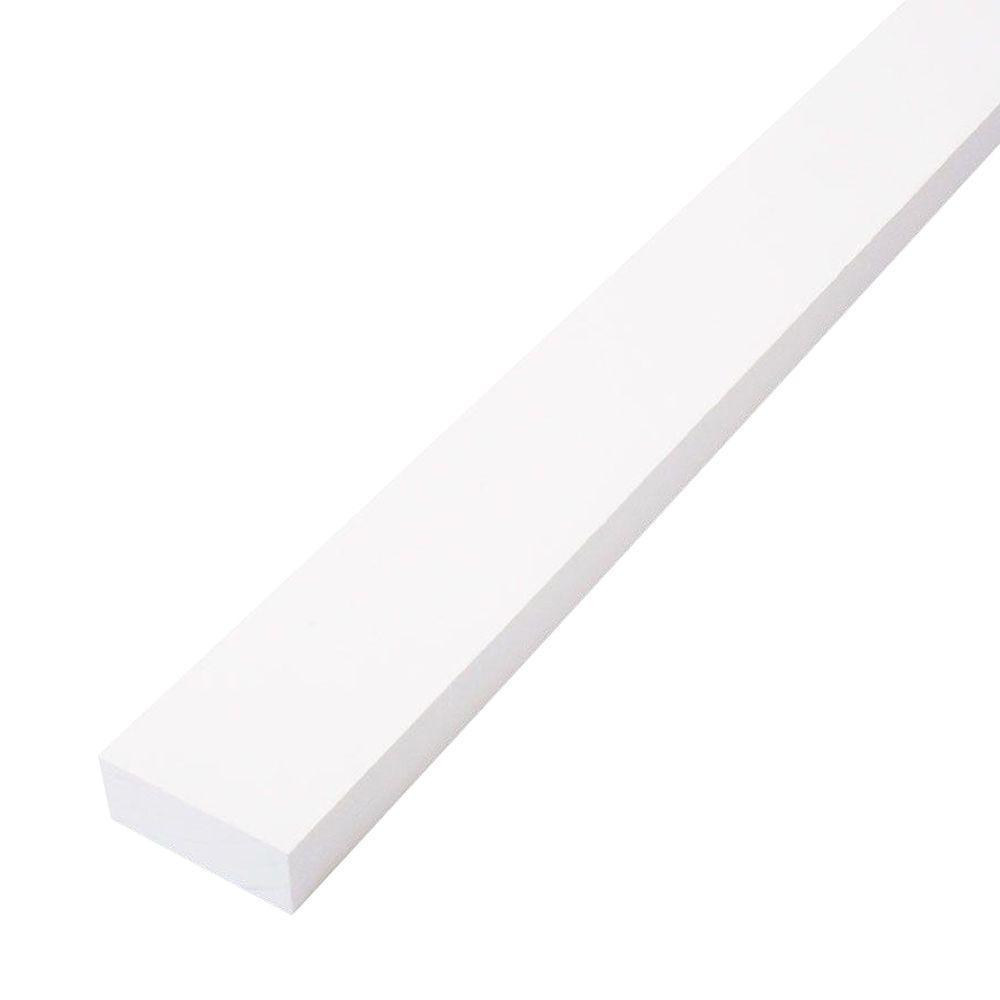 Trim Board Primed Finger-Joint (Common: 1 in  x 2 in  x 8 ft