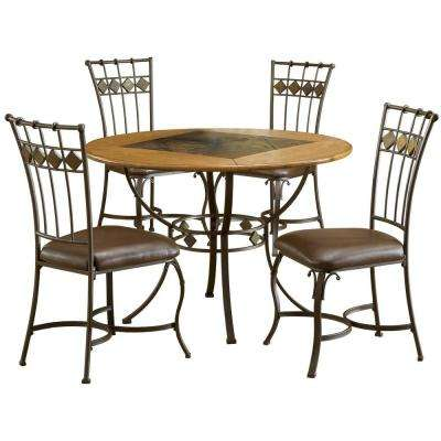 Lakeview 5-Piece Brown Copper Dining Set