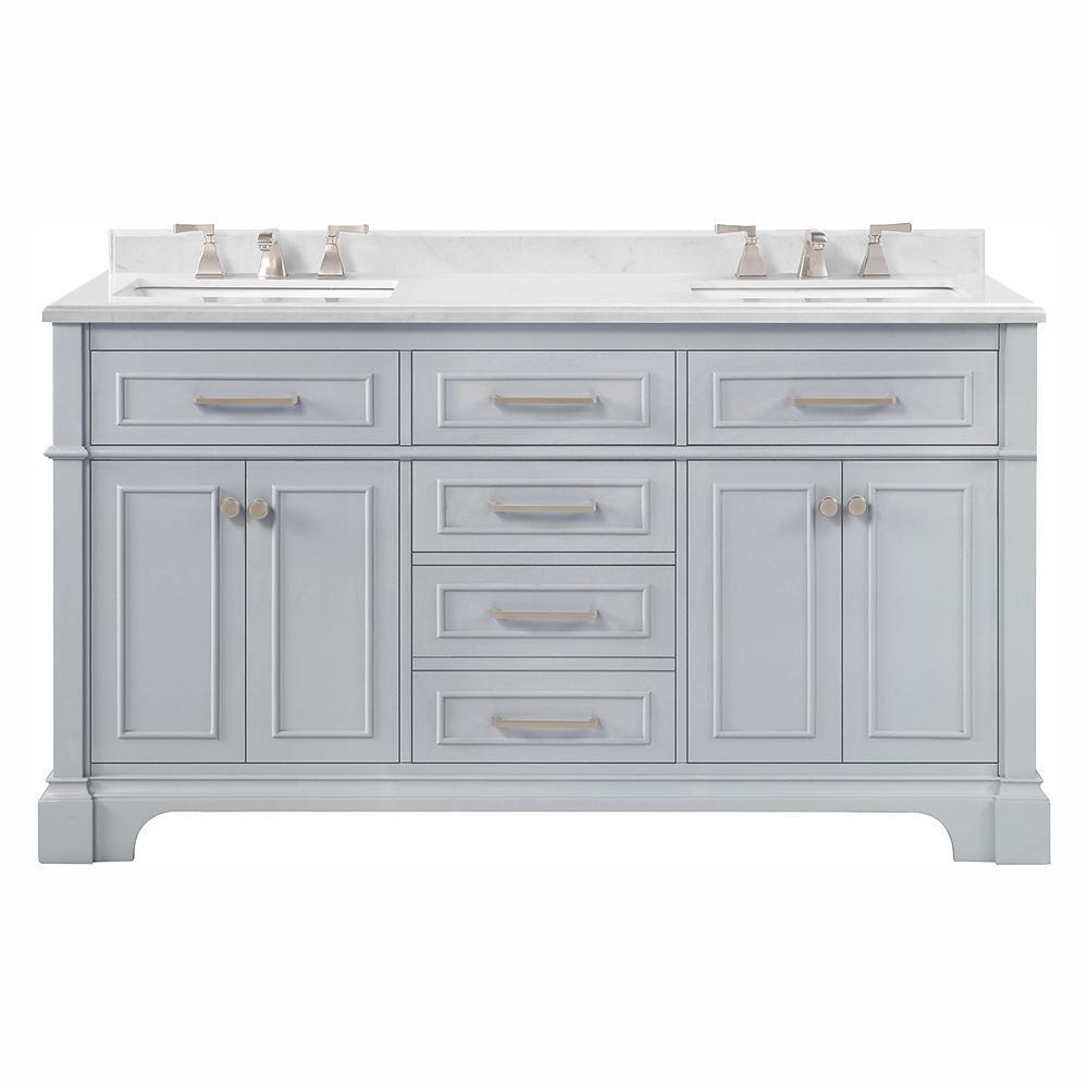 double sink bathroom vanities bath the home depot rh homedepot com