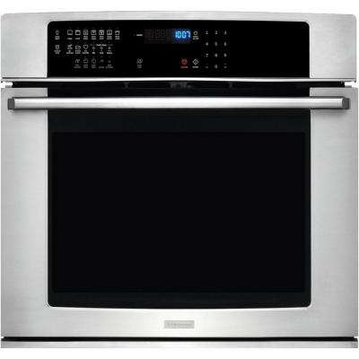 IQ-Touch 30 in. Single Electric Wall Oven Self-Cleaning with Convection in Stainless Steel