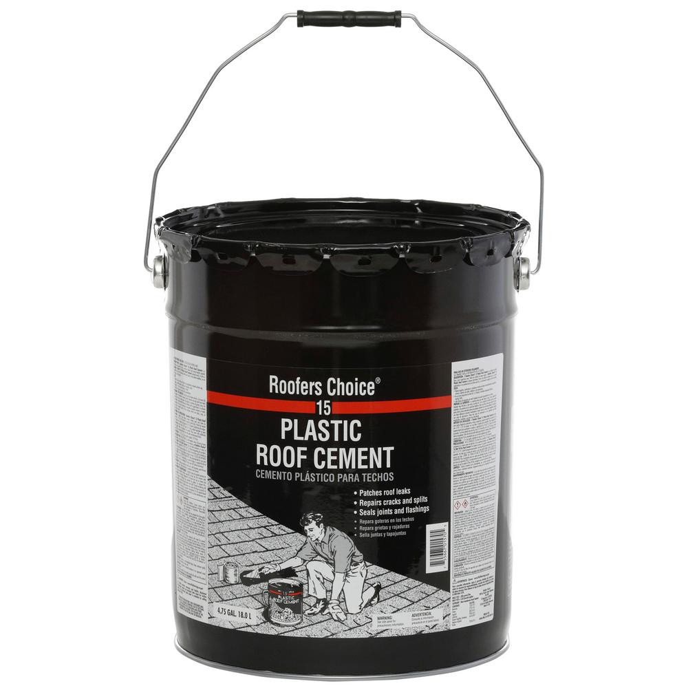 Roofers Choice 4 75 Gal Plastic Roof Sealant Cement Rc015470 The Home Depot