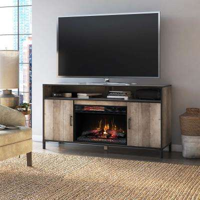 Lynhurst 58 in. Freestanding Media Mantel Electrical Fireplace TV Stand in Modern Valley Pine