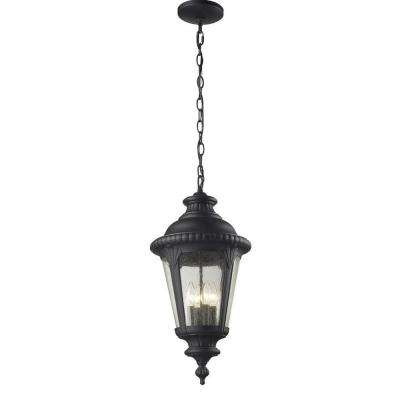 Lawrence 4-Light Outdoor Hanging Black Incandescent Pendant
