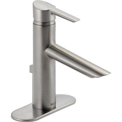 Compel Single Hole Single-Handle Bathroom Faucet with Metal Drain Assembly in Stainless