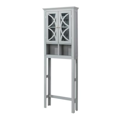 24 in. W x 7.5 in. D x 68.26 in. H Bathroom Cabinet Spacesaver in Gray